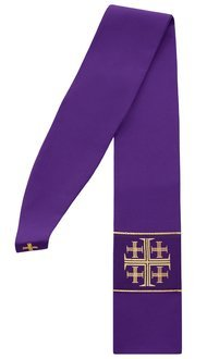"Gothic stole ""Jerusalem Crosses"""