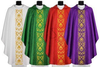 Set of 4 chasubles